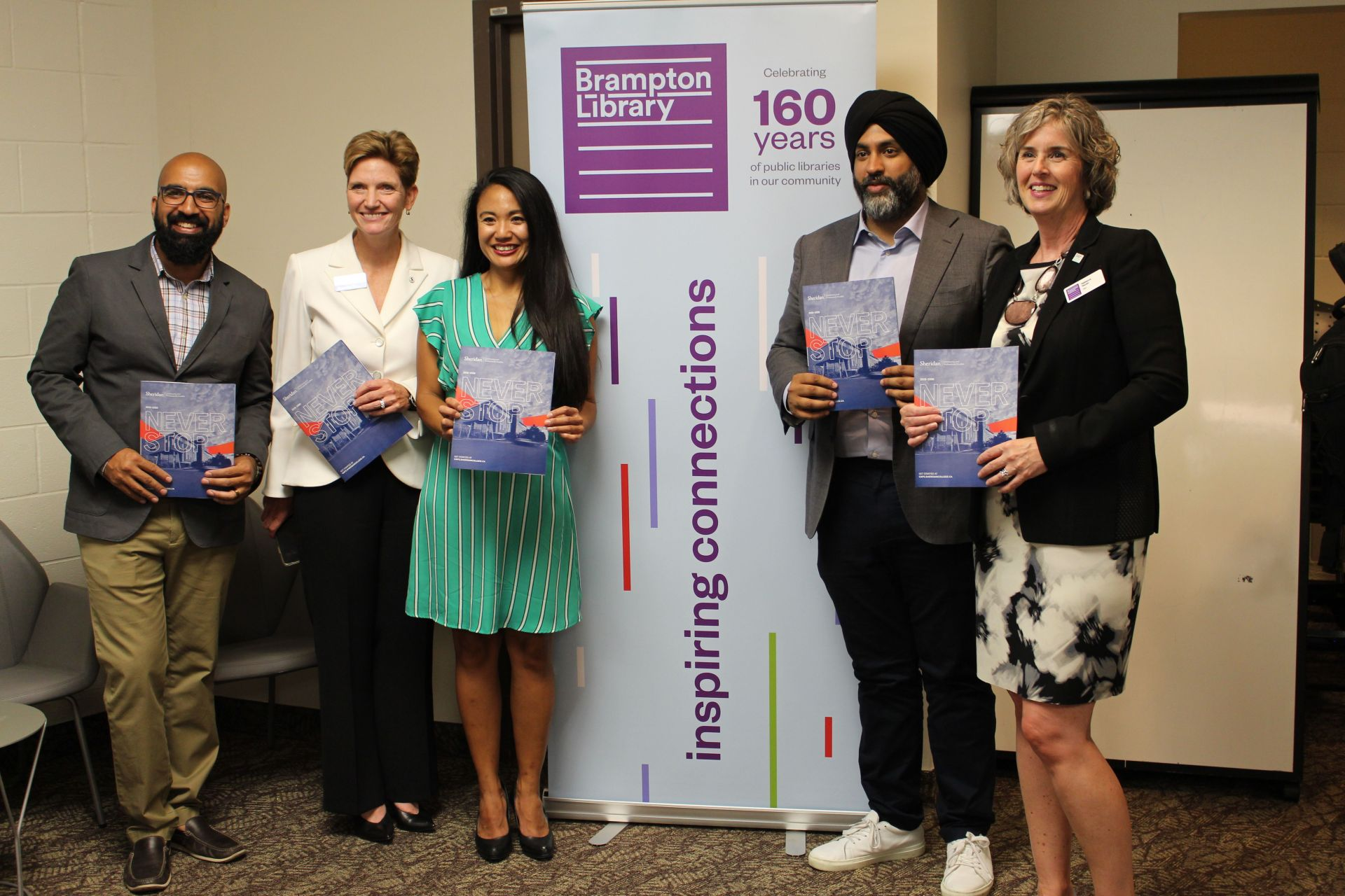 Sheridan, Brampton Council and Brampton Library delegates at a launch event
