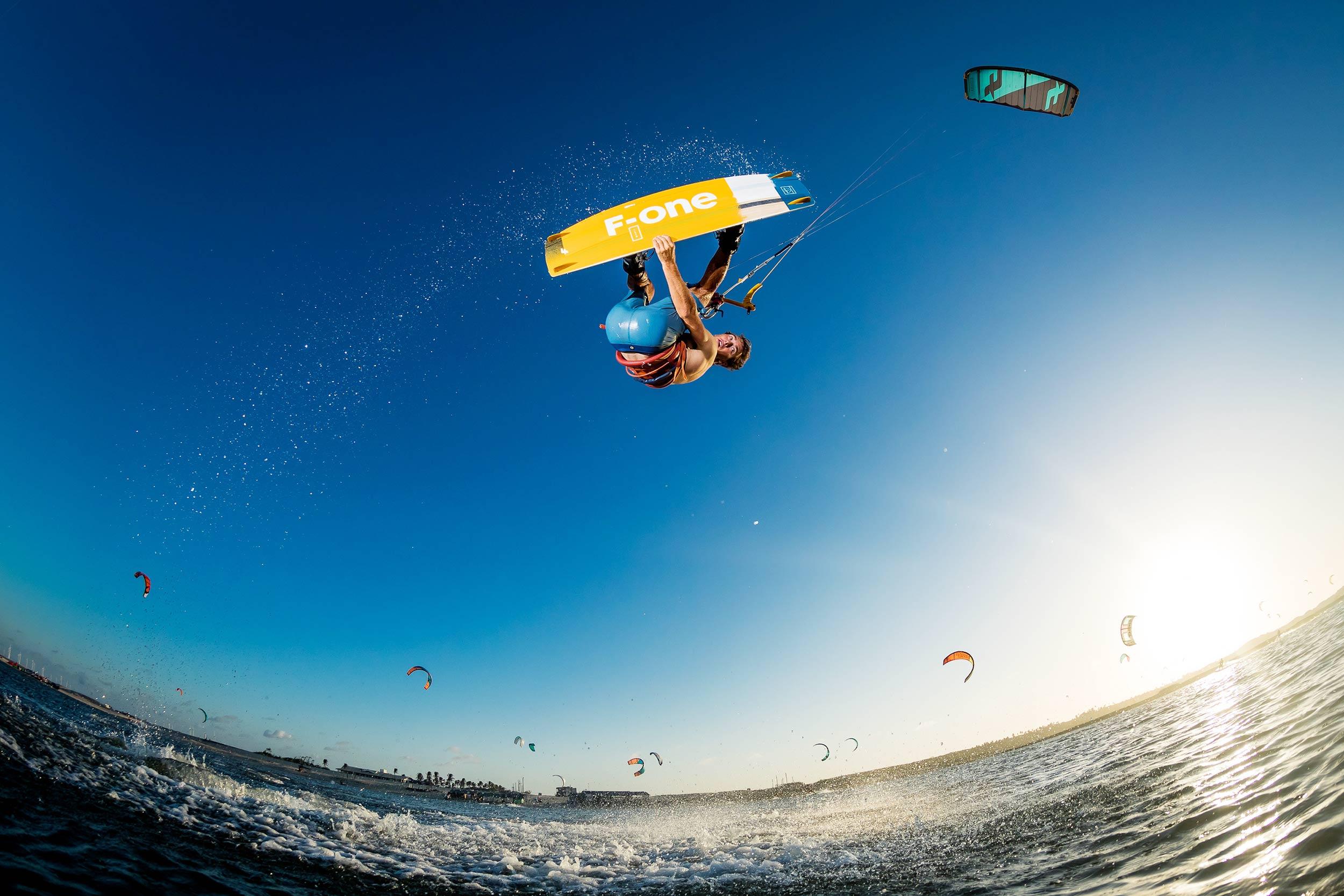 Maxime Chabloz kiteboarding in Brazil