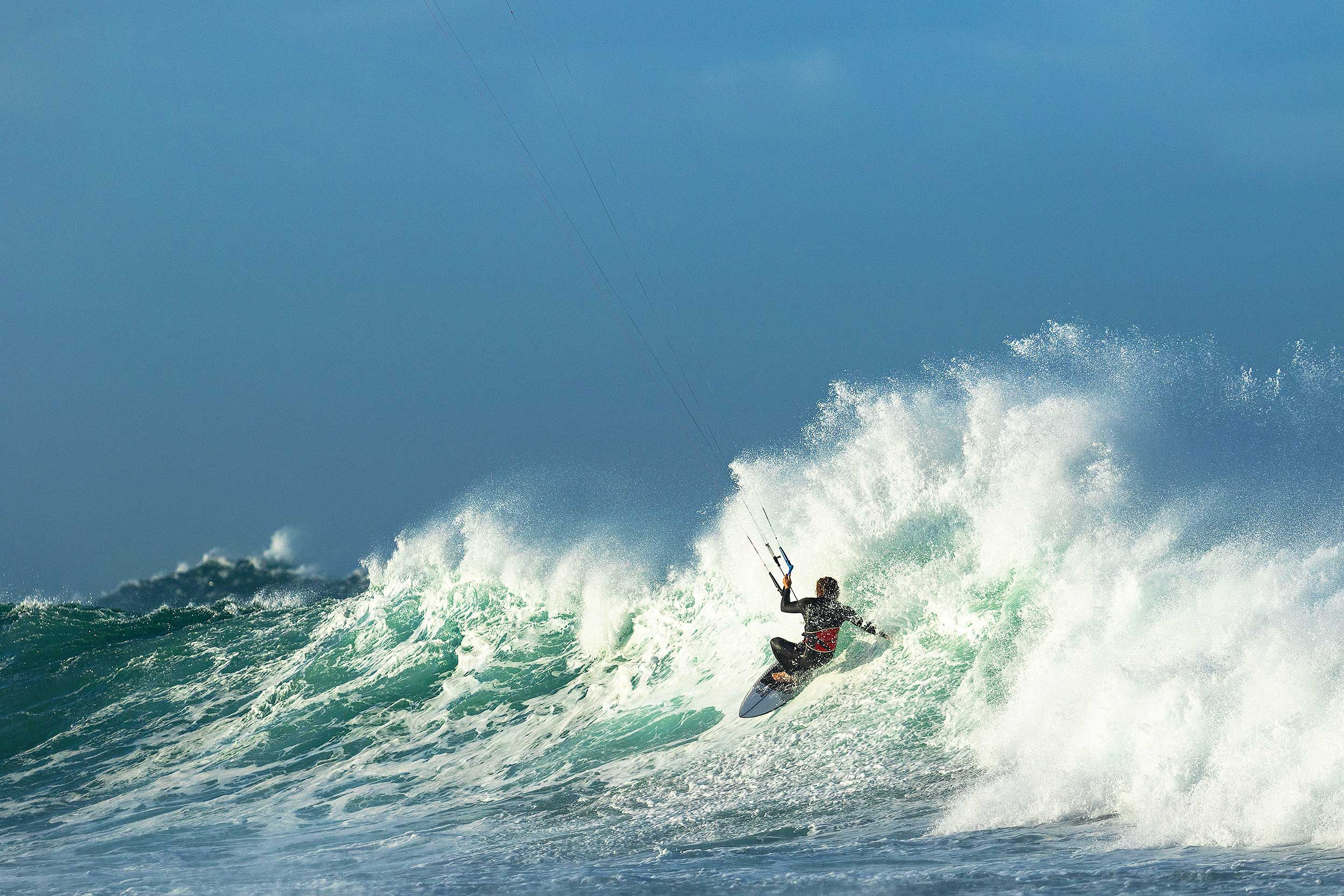 Luke Atkinson kitesurfing in New South Wales