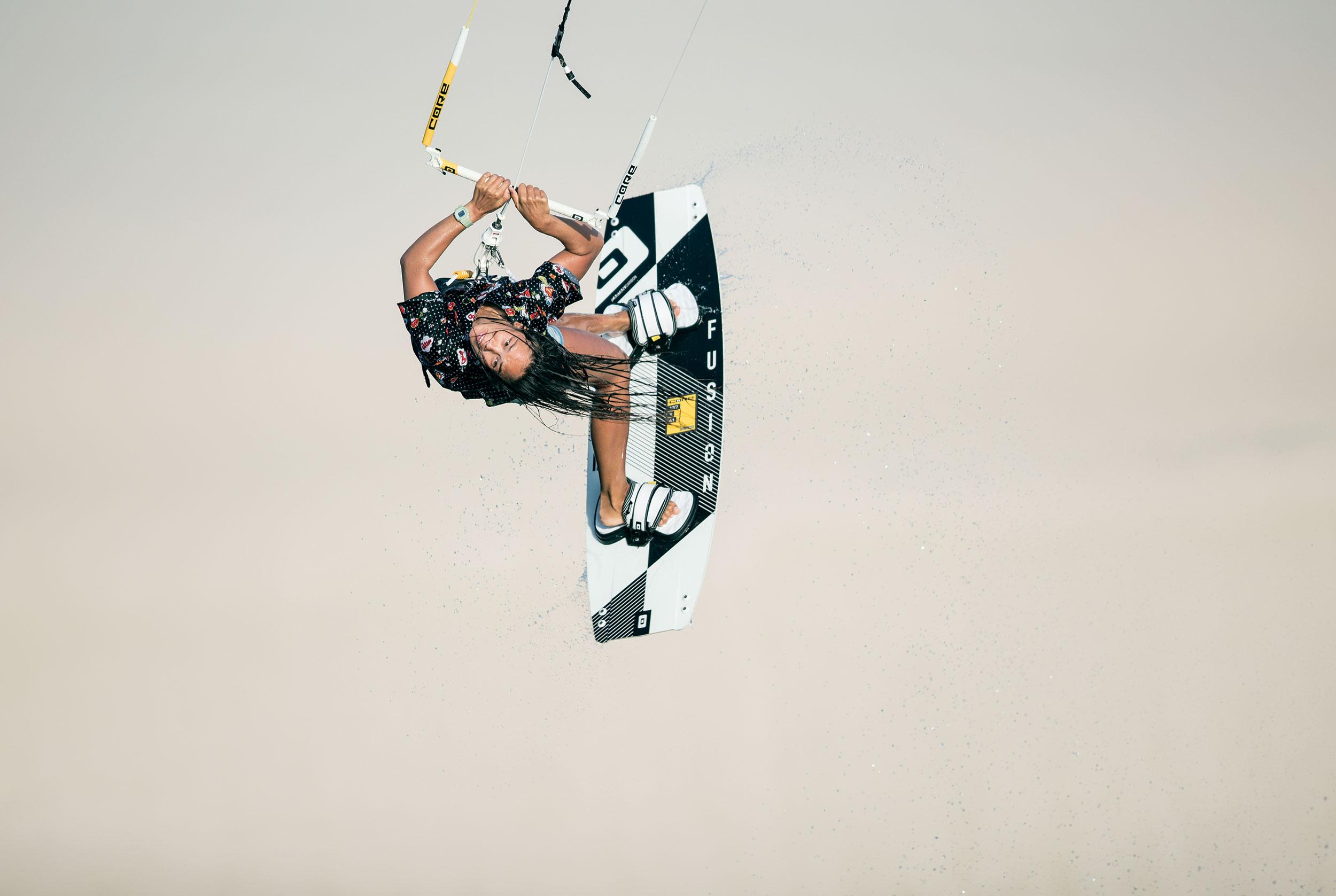 Sabrinha Lutz, Kiteboarding in Brazil