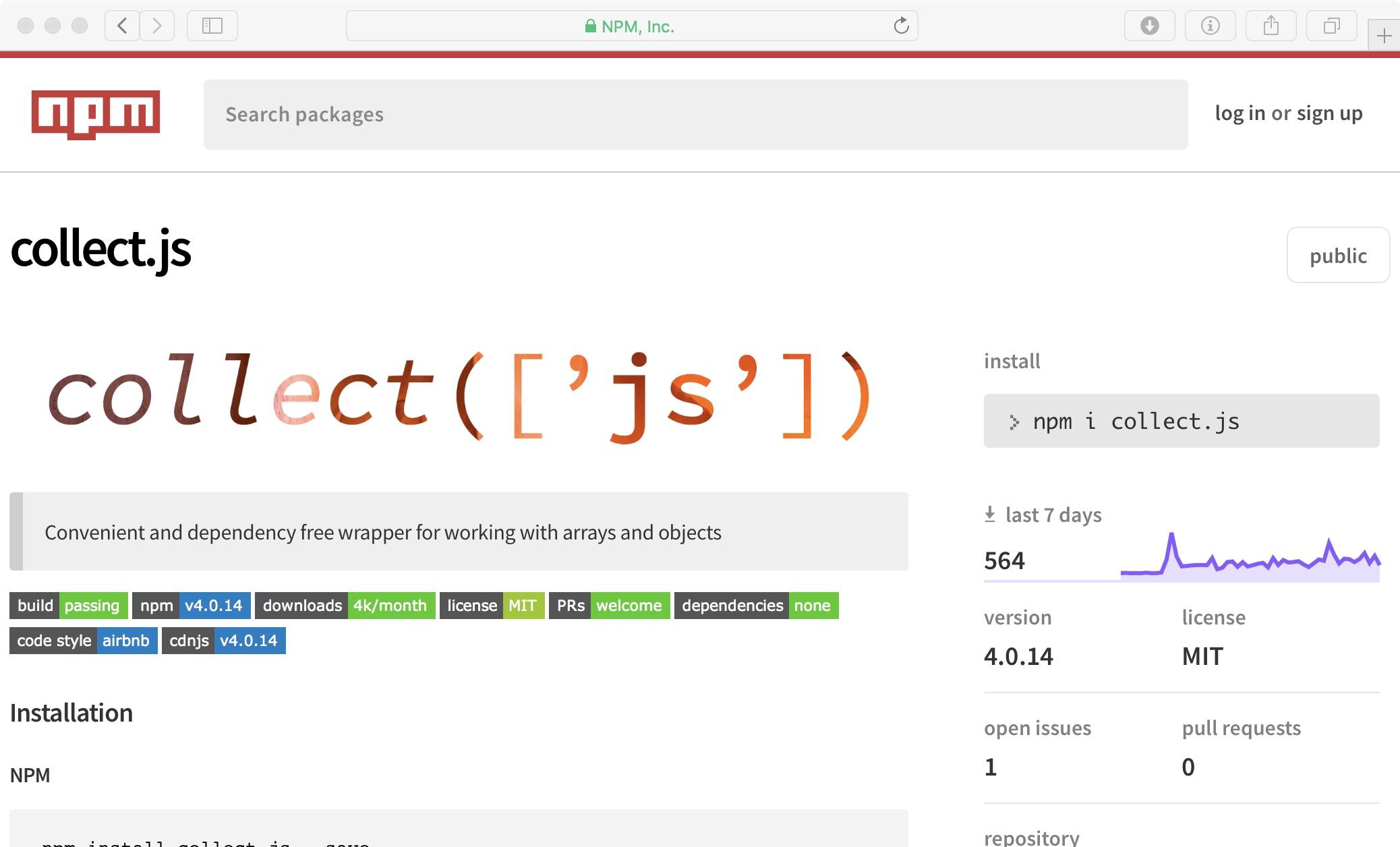 التعامل مع arrays و objects في جافاسكربت باستخدام collect.js