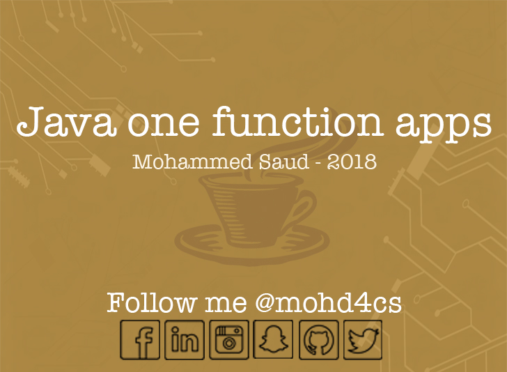 Java One Function Apps