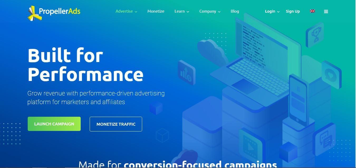 الربح من موقع PropellerAds للإعلانات بديل إعلانات جوجل