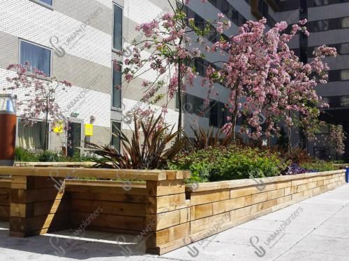 Woodblocx modular planters