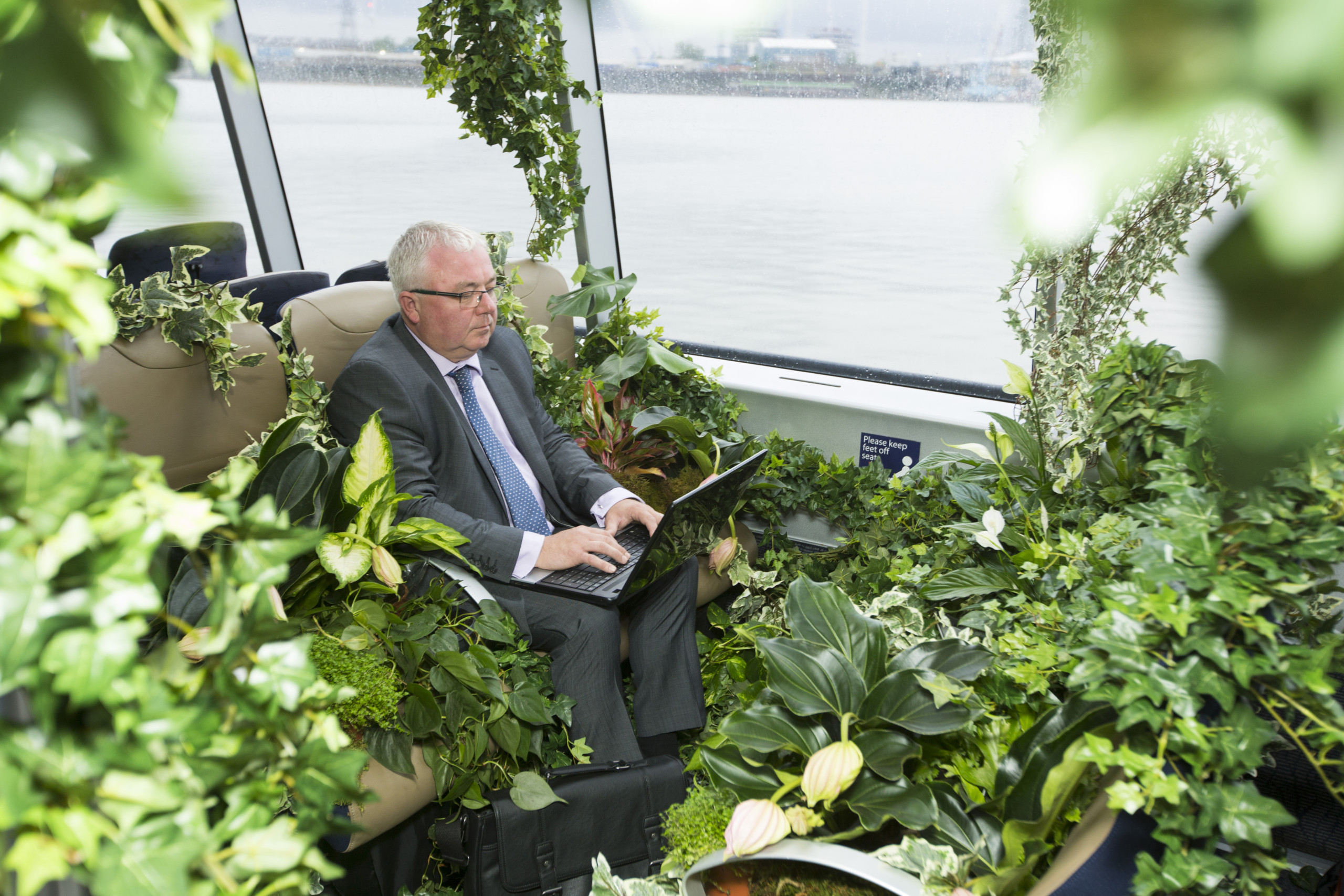 National Plants at Work Week. Efig Ltd have teamed up with Transport for London to plant up a Thames Clipper on Monday 13th July 2015