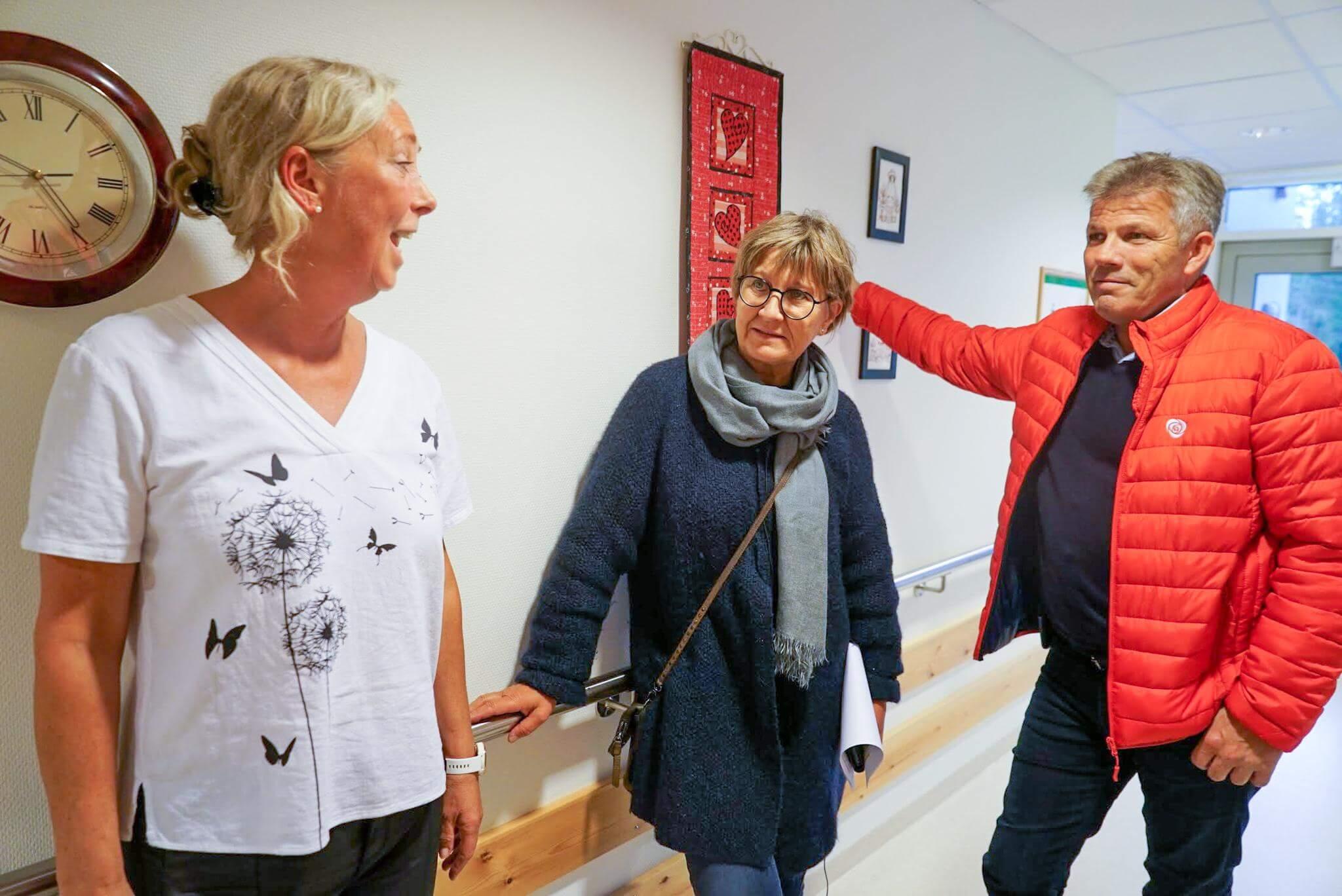 Hilde Thorstensen Rosvold (t.v.), Mette Nord og Bjørnar Skjæran. Foto: Mina Haugli