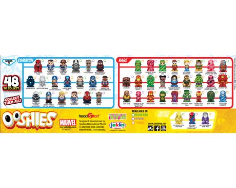 Marvel Ooshies wave 3 characters