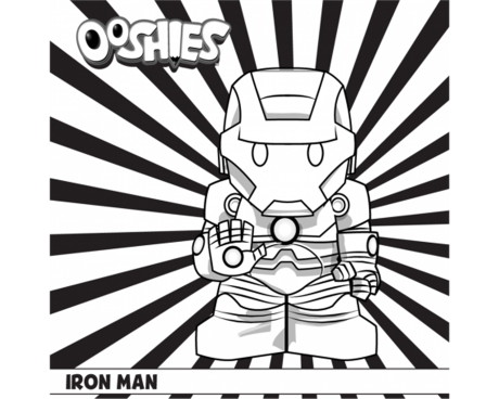 Iron Man Colouring Activity