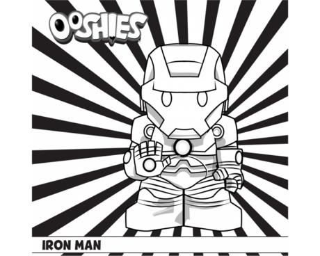 Iron Man Colouring Activity