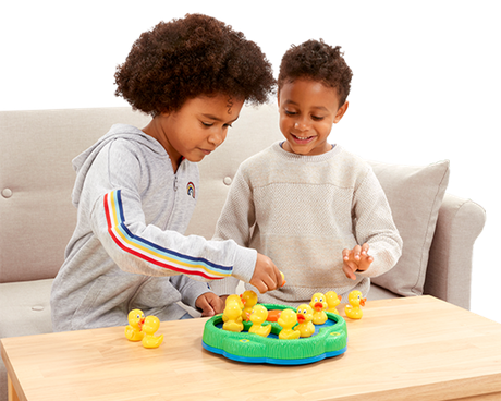 Children playing Lucky Ducks game