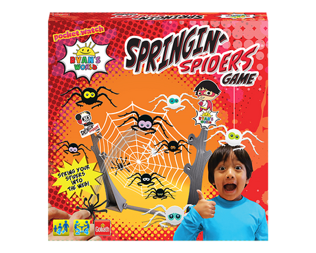 Ryan's World Springing Spiders game box