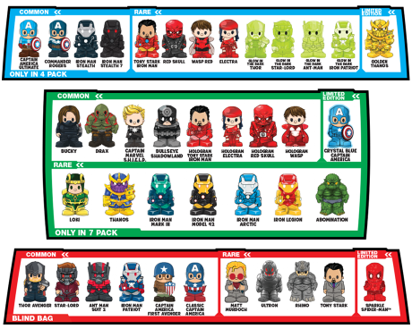 Marvel Ooshies characters