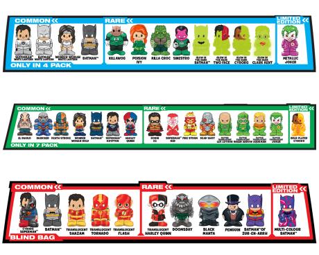 DC Comics Ooshies characters