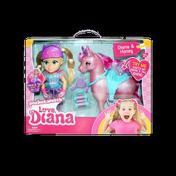 Pony Princess Diana with Light Up Pony