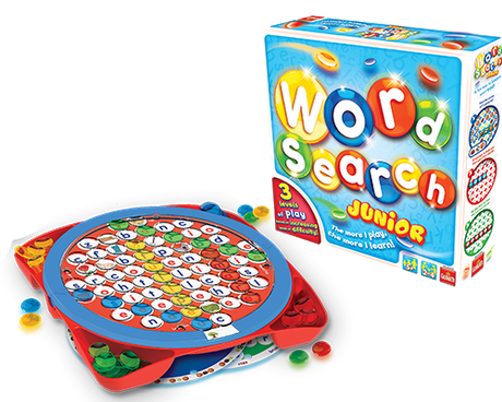 Wordsearch Junior game contents and box