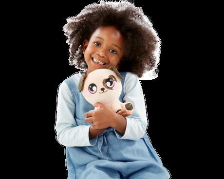 Girl with Squeezamals 3Deez