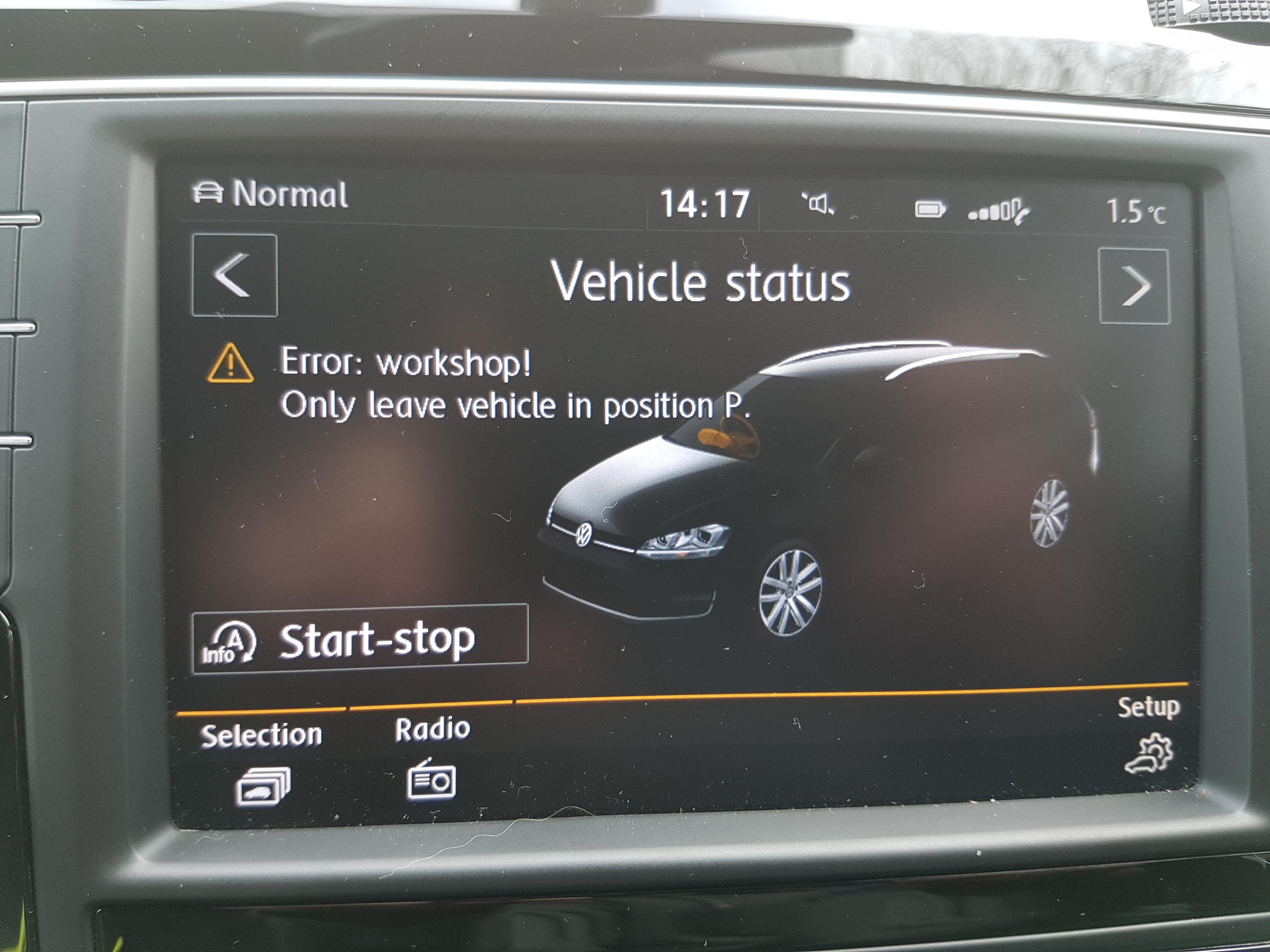 Error Workshop !! - VW Golf R MK7 Chat - VWROC - VW R Owners Club