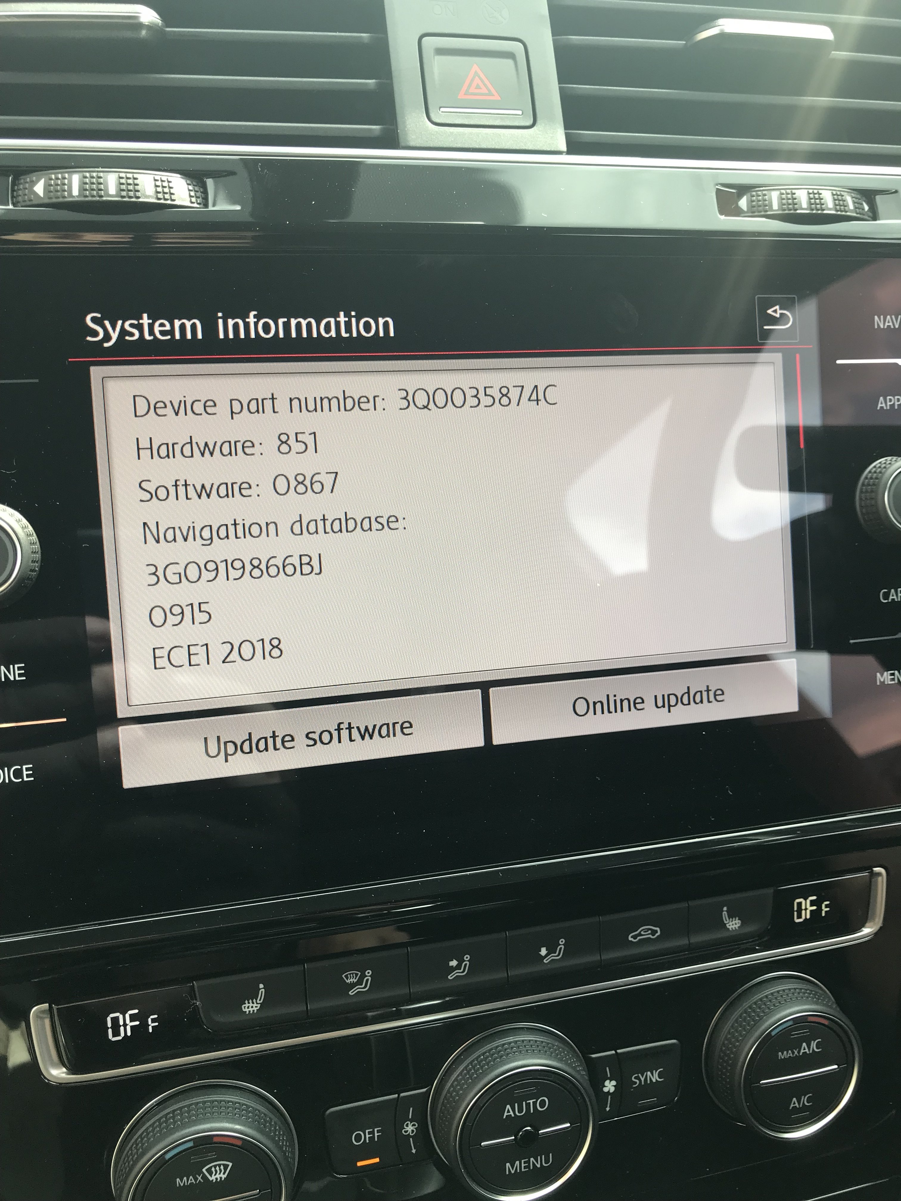 Problem With Performance Monitor Anyone???? - VW Golf R MK7