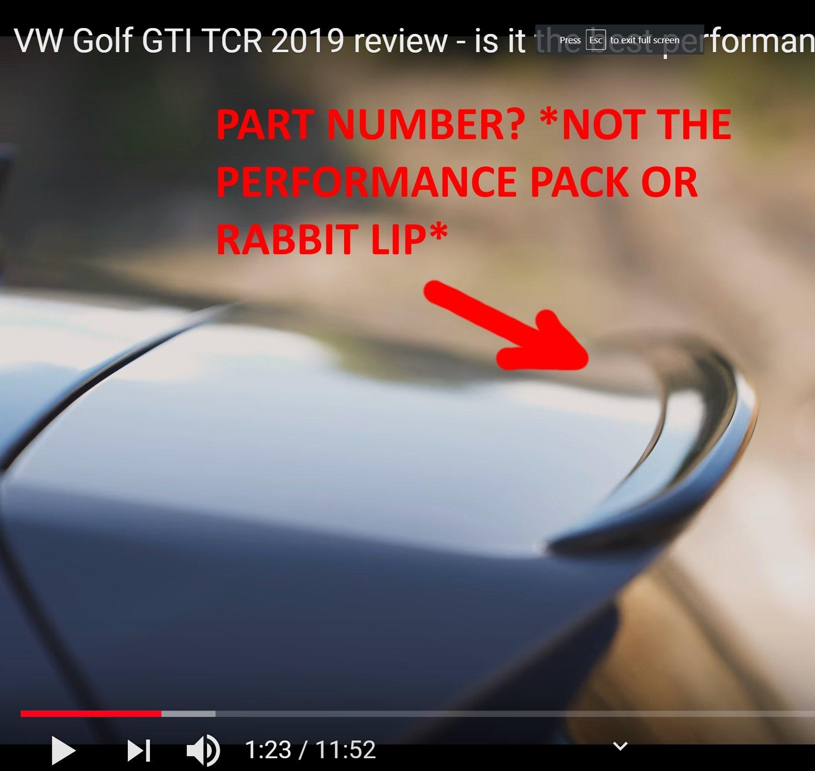 Tcr Gti Rear Spoiler Lip P N Modifying Your Golf R Mk7
