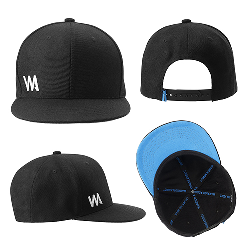 mens 6 panel baseball cap black
