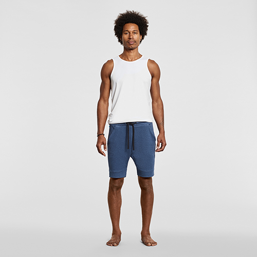 mens yoga shorts blue