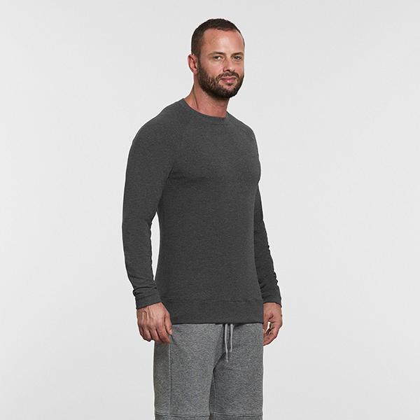 Men's Yoga Raglan T Shirt Grey