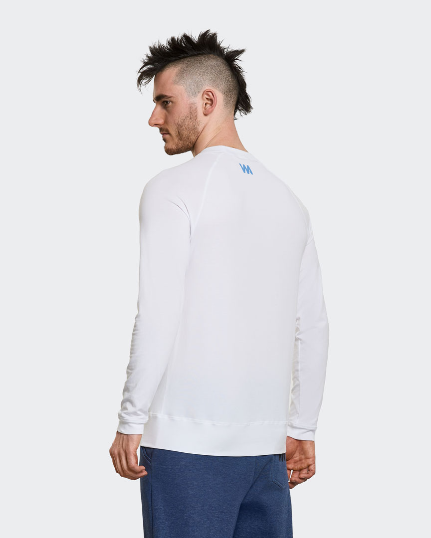 Mens yoga t-shirt long sleeved white