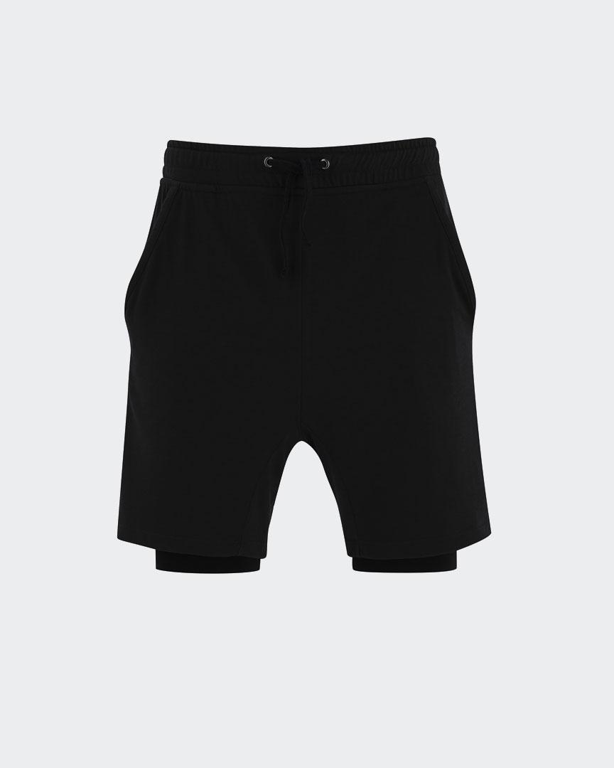 mens yoga anti gravity shorts in black