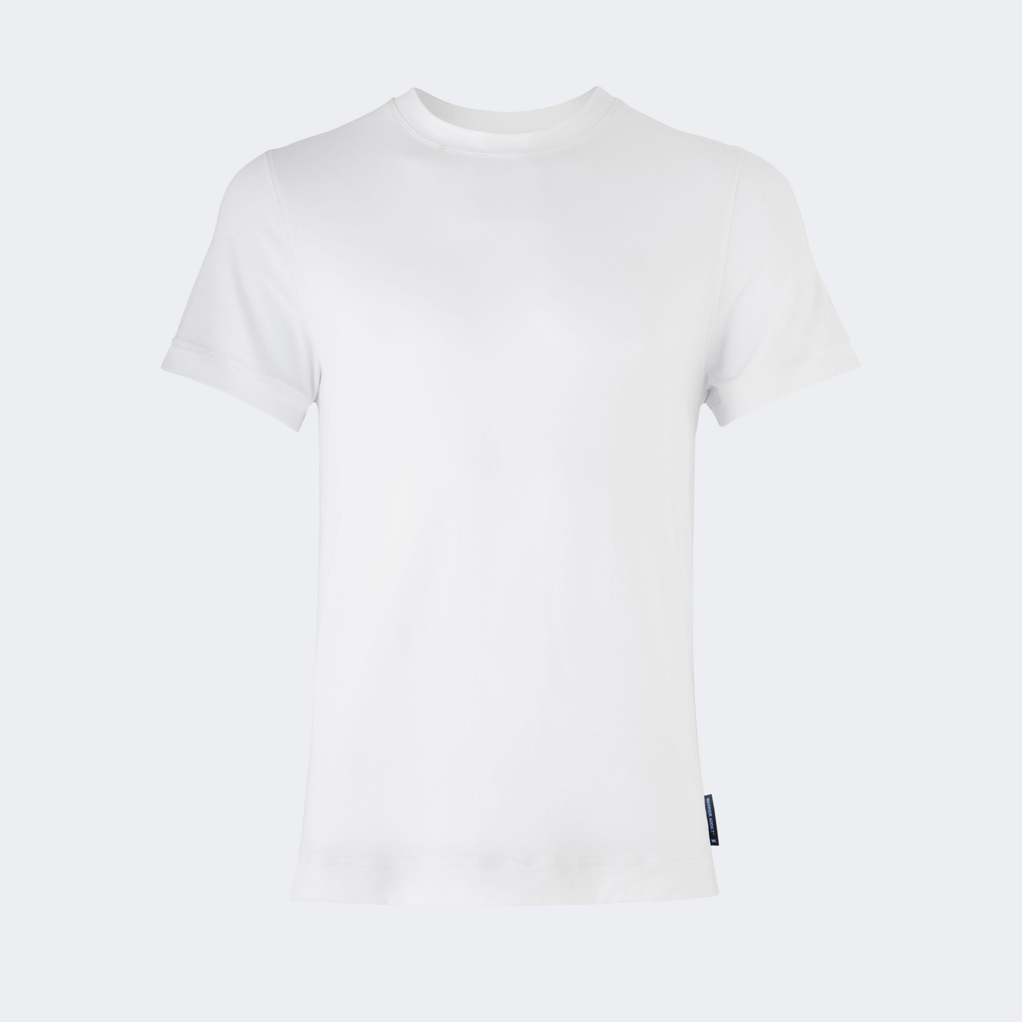 Warrior addict white mens yoga performance t-shirt front view