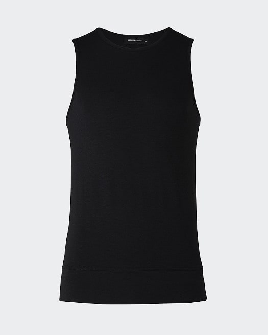 Black Inversion Tank Top - Front View