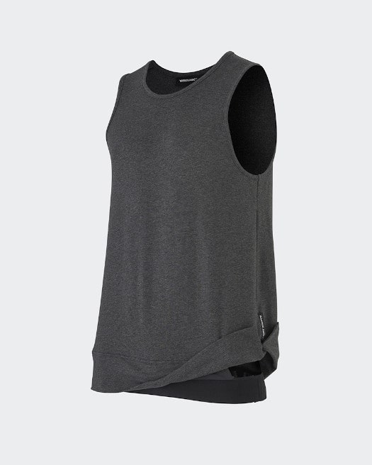 Grey Inversion Tank Top - Side View