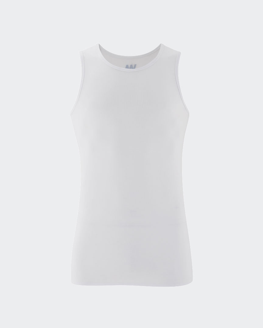 Warrior Addicts Men's Yoga Performance Tank Top White  Front View