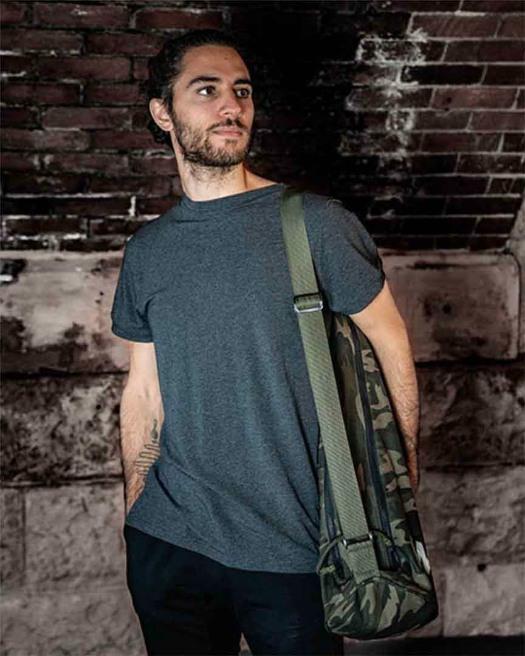 Warrior Yoga Mat Bag - During Practice