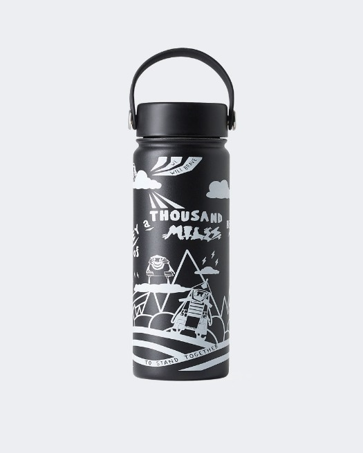 Warrior Addict Yoga Water Bottle - Front View