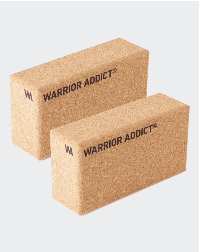 warrior addict set of 2 cork yoga blocks