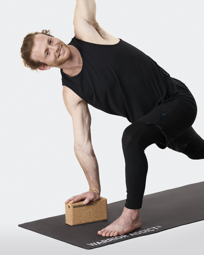 warrior addict the warrior cork yoga block demonstrated by Jacob Mellish