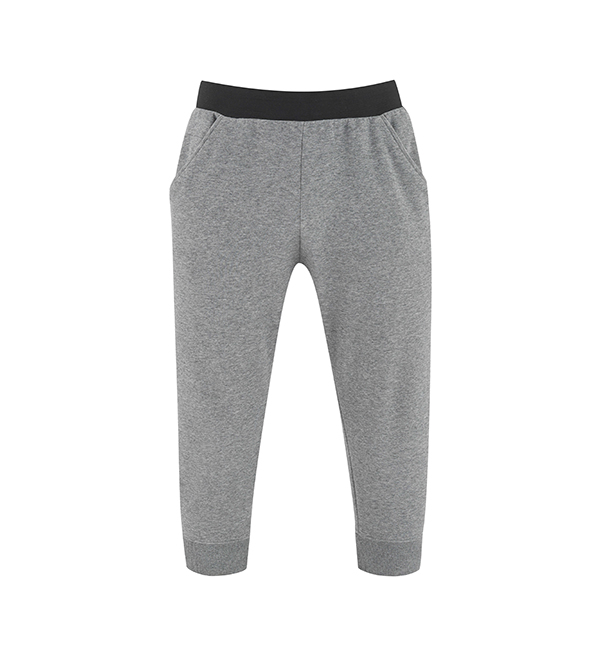 Men's Yoga Capri Pants Grey
