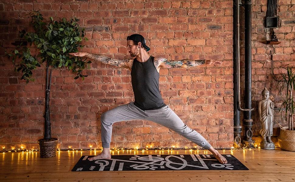 Andrew Macdonald Practicing Yoga
