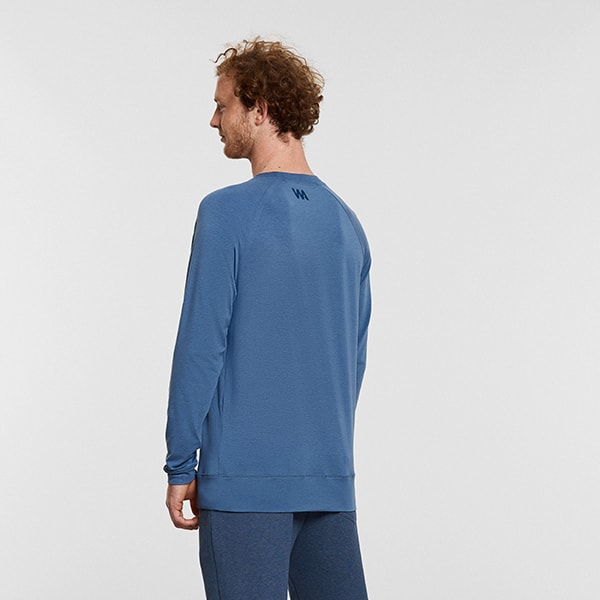 Men's Yoga Raglan T Shirt Blue