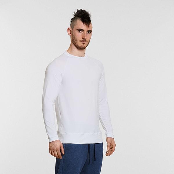 Men's Yoga Raglan T Shirt White