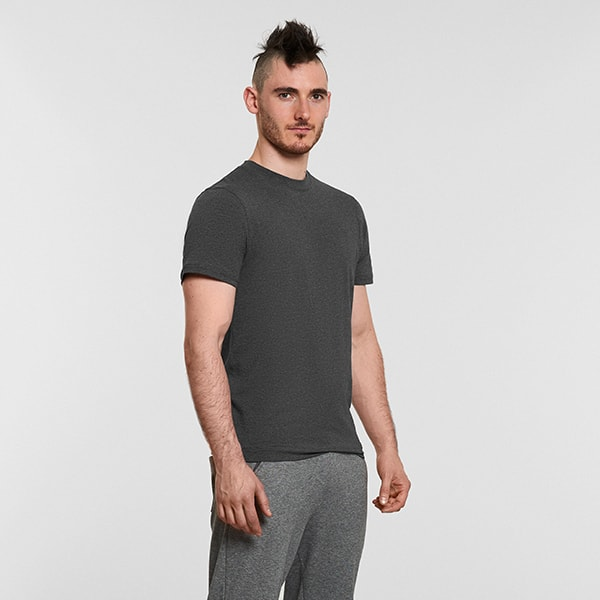 Men's Yoga Performance Gray T-Shirt  - Front