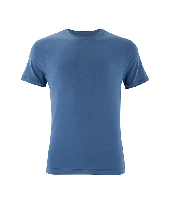 Men's Yoga Performance Blue T-Shirt
