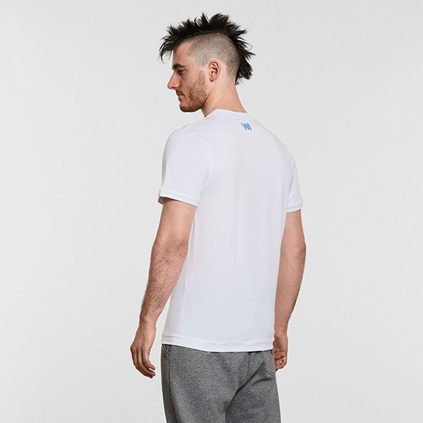 Men's Yoga Performance White T-Shirt - Reverse