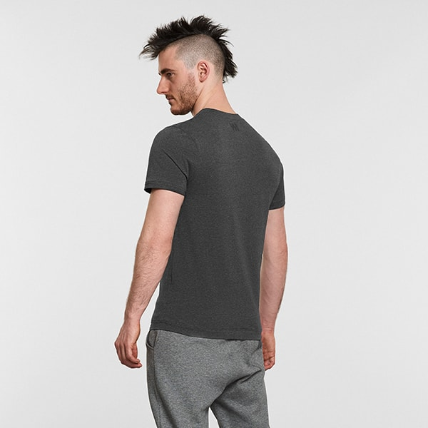 Men's Yoga Performance Gray T-Shirt  - Reverse