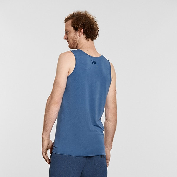 Men's Yoga Performance Tank Top Blue - Reverse