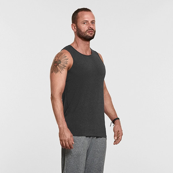 Men's Yoga Performance Tank Top Gray - Front