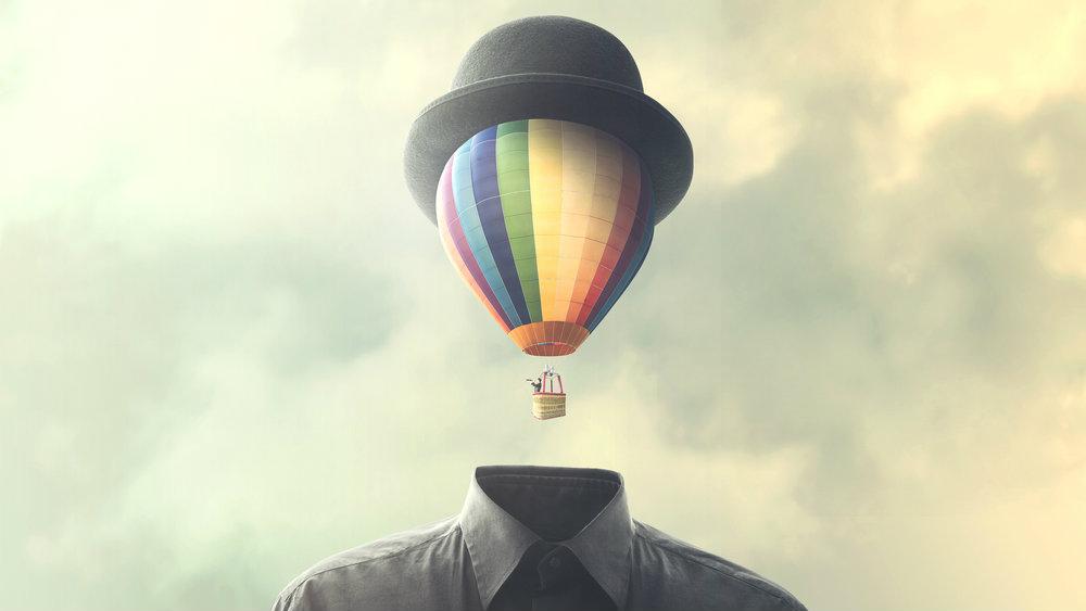 Hot-air balloon head