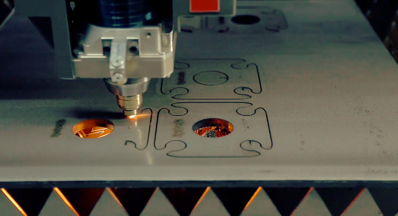 We laser cut introcate patterns with precision