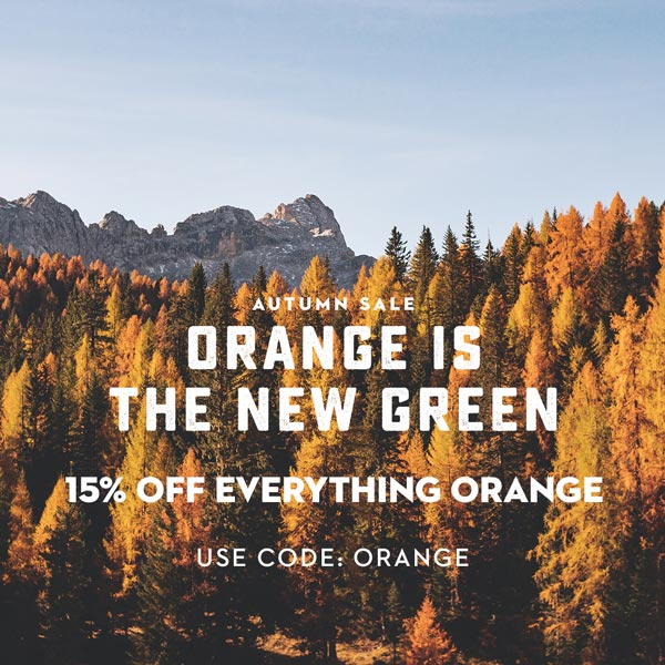 Orange is the New Green - Autumn Sale on WildBounds