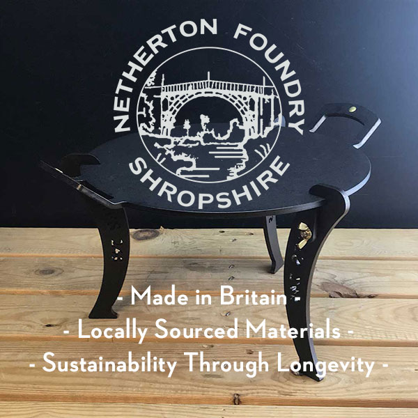 Netherton Foundry - Sustainable outdoor cookware - Eco-Friendly outdoor cookware - Made in Britain - Made in England